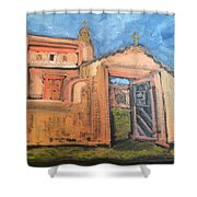 Trampas Church Shower Curtain