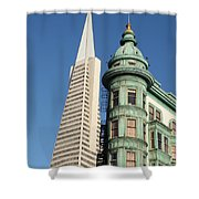 Transamerica Pyramid Building Shower Curtain