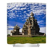 Transfiguration Cathedral On Kizhi Shower Curtain
