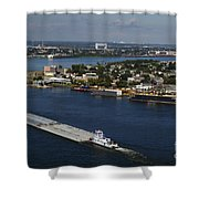 Transportation - Shipping On The Mississippi River Shower Curtain
