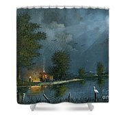 Travellers Rest Shower Curtain by Ken Wood