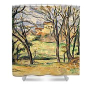 Trees And Houses Near The Jas De Bouffan Shower Curtain