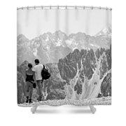 Trekking Together Shower Curtain