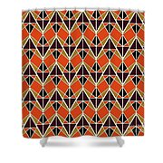 Triangles Pattern Shower Curtain