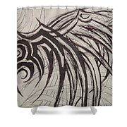 Tribal Wing Sketch Shower Curtain