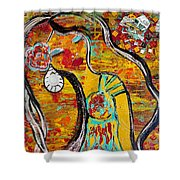 Trick My Canvas Shower Curtain