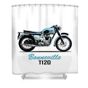 Triumph Bonneville Shower Curtain