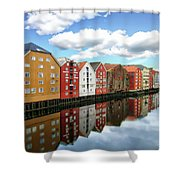 Trondheim Coastal View Shower Curtain