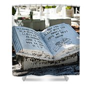 Tropical Cemetery Shower Curtain