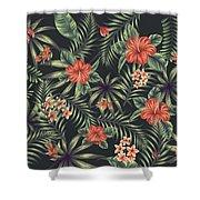 Tropical Leaf Pattern 5 Shower Curtain