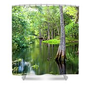 Tropical River 3 Shower Curtain