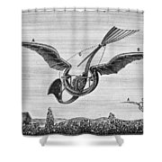 Trouv�s Ornithopter Shower Curtain