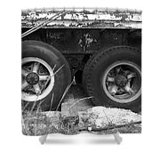 Truck Tires Shower Curtain