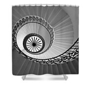 Tulip Staircase Shower Curtain by Julian Perry