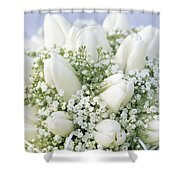 Tulip Tulipa Sp And Babys Breath Shower Curtain