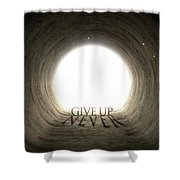 Tunnel Text And Shadow Concept Shower Curtain
