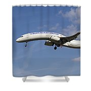 Turkish Delight Airlines Airbus A321 Shower Curtain