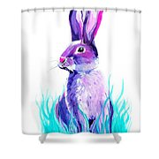 Turquoise And The Hare  Shower Curtain