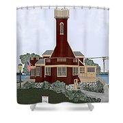 Turtle Rock Lighthouse Shower Curtain