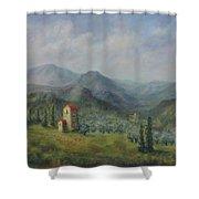Tuscany Italy Olive Groves Shower Curtain by Katalin Luczay