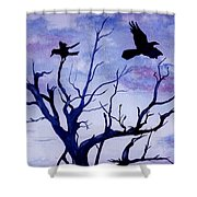 Twilight Flight Shower Curtain