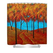 Twilight Woods Shower Curtain