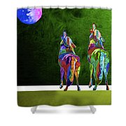 Two Coyote By Nixo Shower Curtain