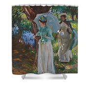 Two Girls With Parasols Shower Curtain