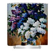 Two Spring Colors Shower Curtain