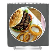 twoanyone Food Delivery  Online Takeout Shakey's Delivery Shower Curtain