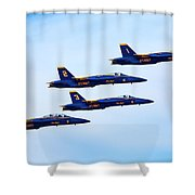 U S Navy Blue Angeles, Formation Flying Shower Curtain