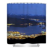 Ulsteinvik By Night Shower Curtain