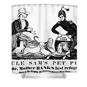 Uncle Sam Cartoon, 1840 Shower Curtain