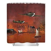 Undefeated Shower Curtain by Ken Wood
