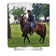 Union Cavalryman Shower Curtain