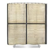 United States Constitution, Usa Shower Curtain