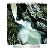 Up The Down Waterfall Shower Curtain