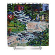 Uphill In Rockport Shower Curtain