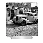Upholstery Shop Dental Clinic 1930's Auto Us Mexico Border Naco Sonora Mexico 1980 Shower Curtain