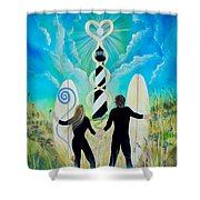 Uprising Of Love Hatteras Shower Curtain