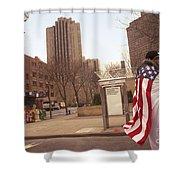 Urban Flag Man Shower Curtain