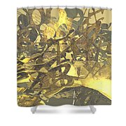 Urban Gold Shower Curtain