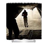 U.s. Air Force Pararescuemen Jump Shower Curtain