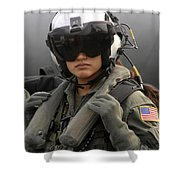 U.s. Navy Aviation Warfare Systems Shower Curtain