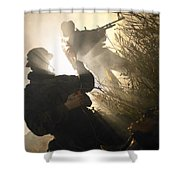 U.s. Navy Seals Give First Aid Shower Curtain