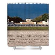 U.s. World War II Memorial Shower Curtain