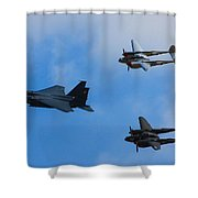 Usaf Heritage Flight Shower Curtain