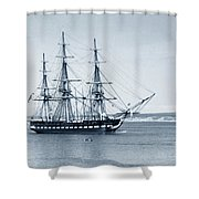 Uss Constitution Old Ironsides In Monterey Bay Oct. 1933 Shower Curtain
