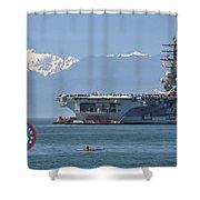 Uss Ronald Reagan Shower Curtain