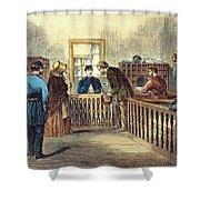 Va: Freedmens Bureau 1866 Shower Curtain